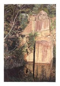 Sacrificial stone - Tynong Quarry - 2015