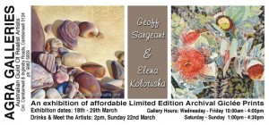 18-29 March 2015 Geoff Sargeant exhibition